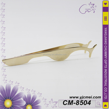 CM-8504 Plated Golden Coulour Professional Eyelash Clip False Eyelashes Extension Applicator Eyelash Curler Tweezers Nipper