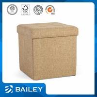 Reasonable Price Top Quality For Promotion/Advertising Livingroom Furniture Storage Polyester Ottoman Fabric