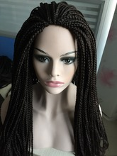 Cheap hot sale fashion synthetic wig african braided wig