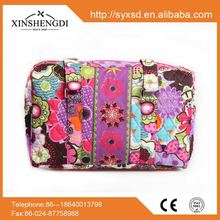 Low prices pattern girl oem quilted cotton foldable duffle bag