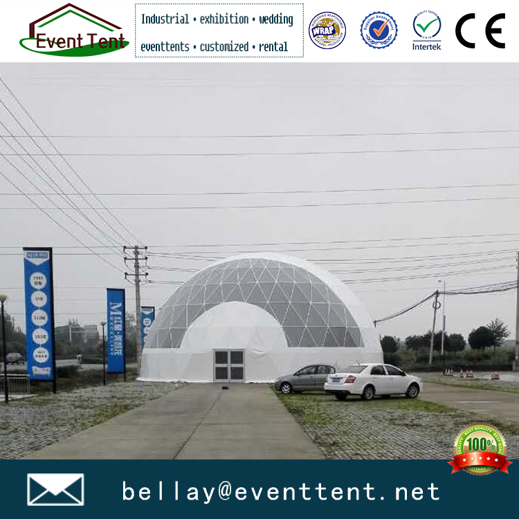 Hot sale white color steel frame structures dome tent for park garden