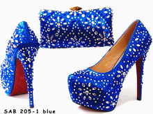 Italian shoes and bags to match women Crystal italian shoes with matching bags for party wedding shoes and matching clutch bag
