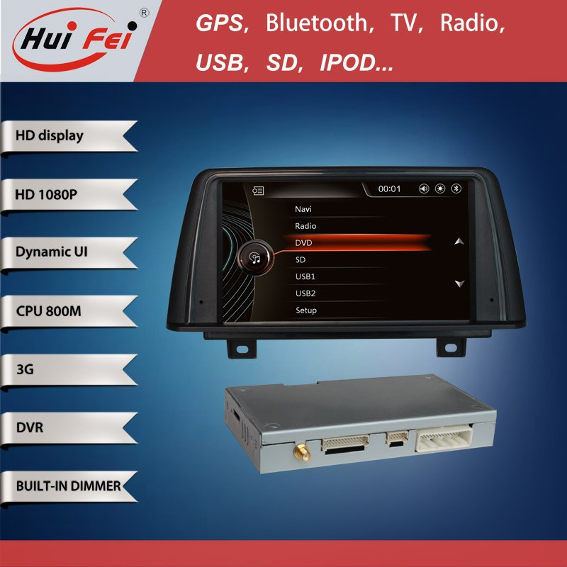 Huifei Touch Screen Car Dvd With Gps For Bmw 3 F30 With 800*480 Touch Screen Dvd Gps Radio Bluetooth Phone Tv Mp5 Sd Usb Aux