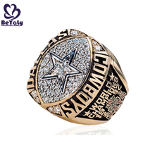 1992 Dallas Cowboys star signet pave setting cz silver rings