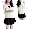 Hot Sale wholesale white long sleeves knitted womens cardigan sweater