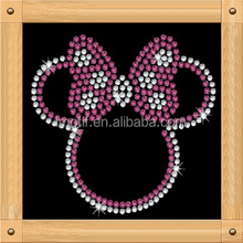 iron on pretty mickey cartoon rhinestone transfer high quality designs