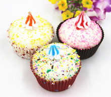 New style high quality artificial cupcakes for party display, simulation food for house decoration