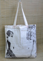 Custom Printing Recycle Cotton Shoppers,heavy duty cotton canvas shopping tote bag,handmade cotton fabric shopping bag