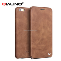 2016 new design hot sale leather cover with magnet flip mobile phone case for iphone 6/6 plus