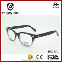 2015 transparent fade color fashion design acetate hand made spectacles optical frames eyewear eyeglasses