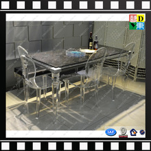 High quality custom acrylic tables and chairs simple design acrylic transparent dining table set made in China low price