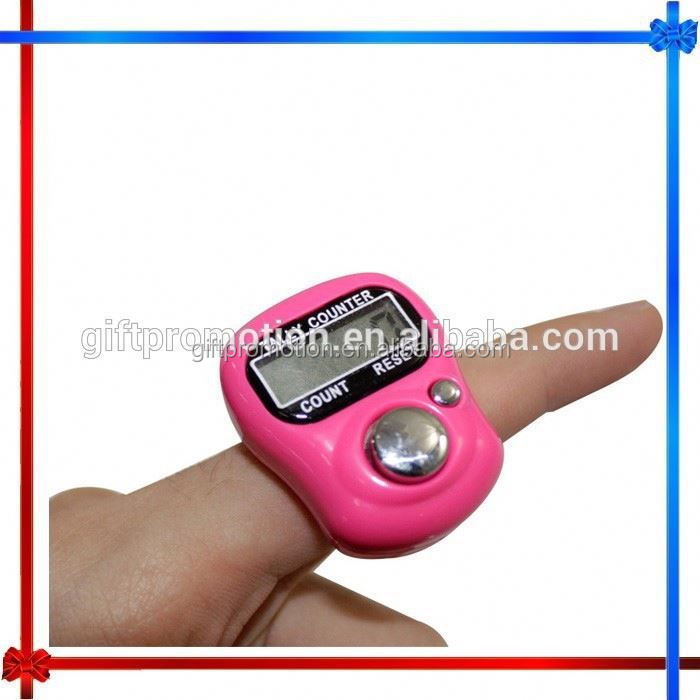 Hot 95 platinum color plated ring finger hand tally counter