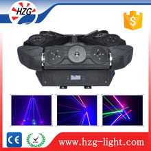 fast movement+strobe effect party disco equipment RGB Full colors pure beam diode 9 lens laser spider light