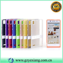 High quality color TPU case for huawei ascend p6 cover hard phone stand