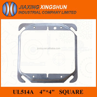 "Hot sell 4""square knockout steel metal junction box cover"