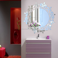 DIY decorative art mirror sticker on wall decor acrylic wall mirror
