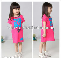 C52903S NEW ARRIVAL MOST FASHION SOLID COLOR KIDS SPORTS DRESS