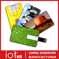 Wholesale Logo Print Credit Card USB Flash Drive