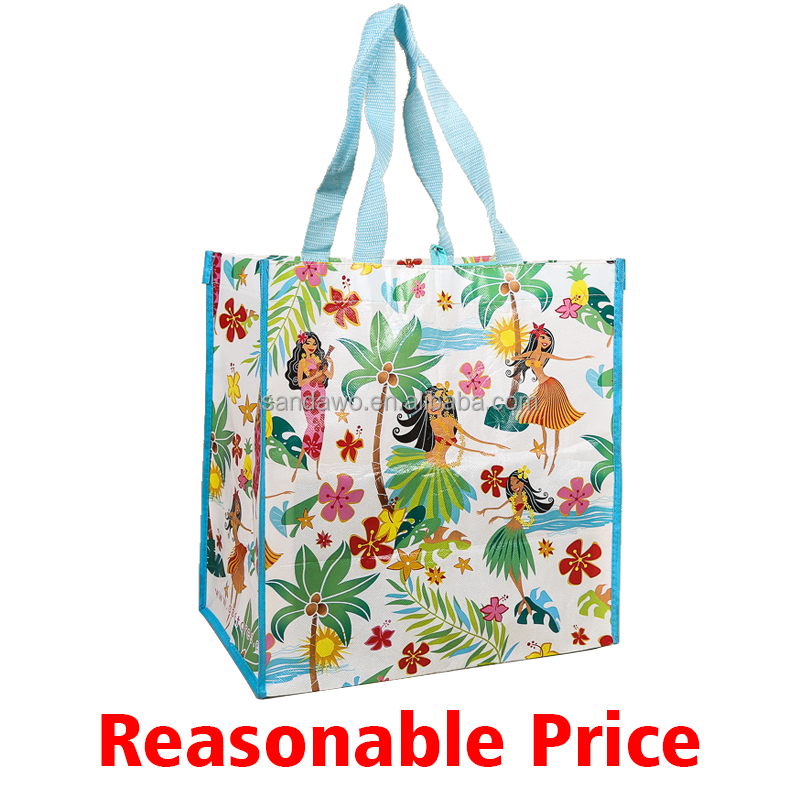 Full colors printing PP Woven Shopping bags