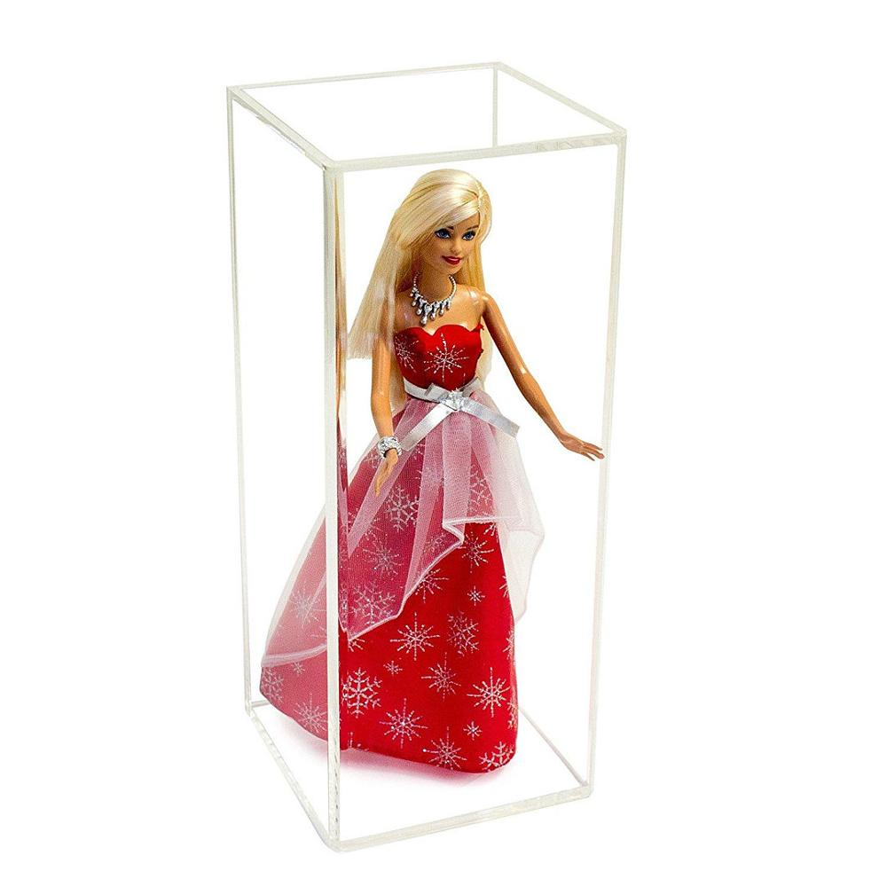 Handmade Acrylic Wall Mount Barbie <strong>Display</strong> with Black Back UV Protection