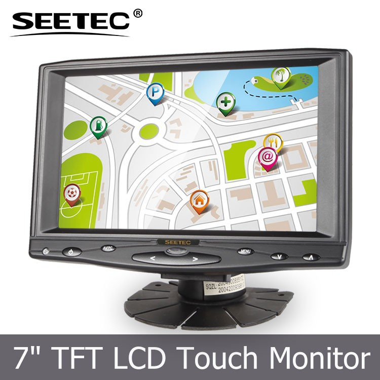 "7"" screen size touch display lower power consumption VGA Video1 Video2 Audio HDMI car pillow tft lcd monitor"