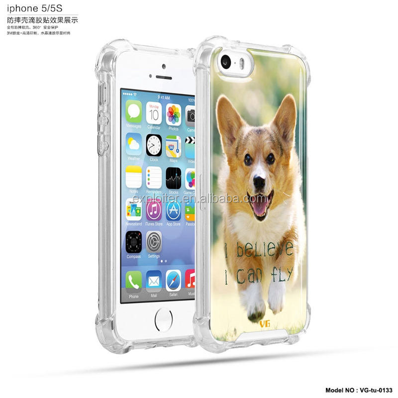 Anti knock air hybrid mobile cover for iphone5 cover cute