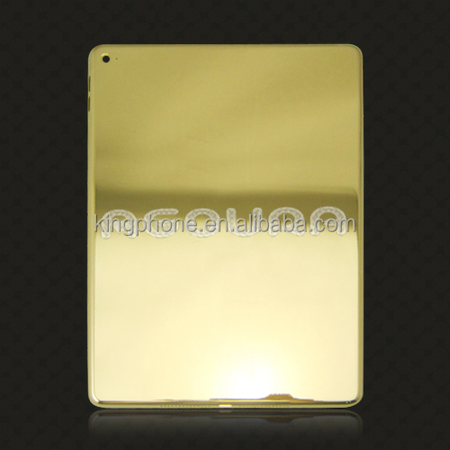 luxury item plating 24k gold housing for ipad air 2,gold housing back cover replacement for ipad air 2