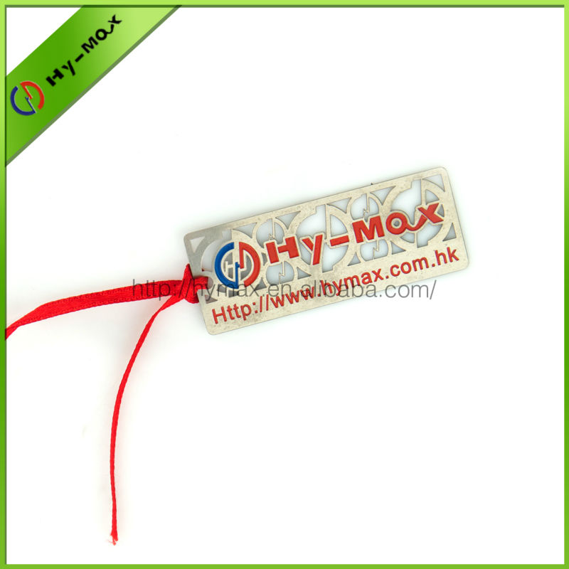 Promotional Souvenir custom metal bookmark