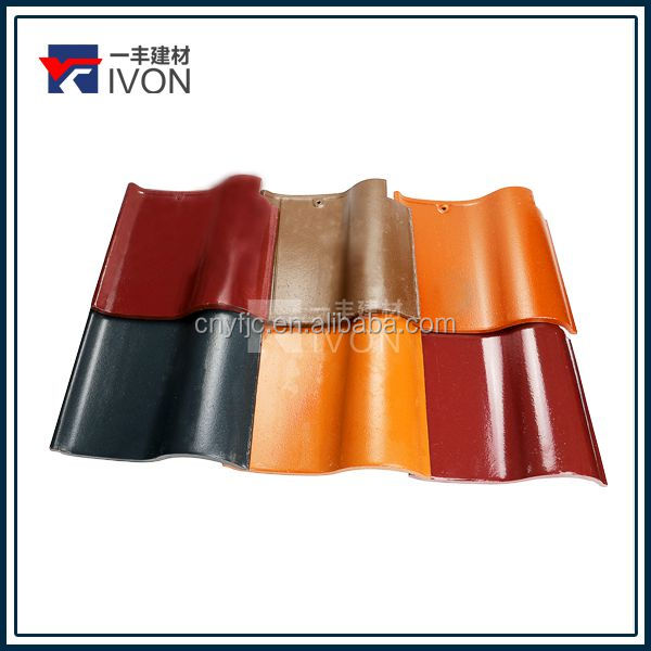 2016 IVON new design Chinese ceremic roof tiles Asphalt shingle praetorium tiles