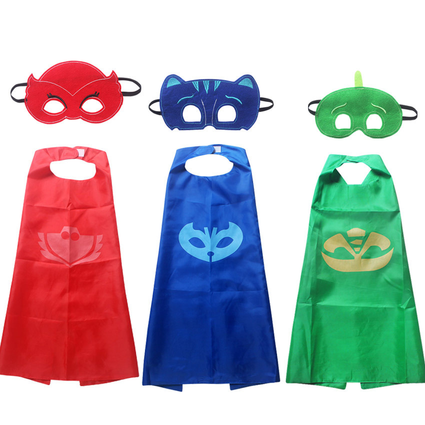Superhero owlette catboy gekko kids capes and masks anime cosplay costume for kids
