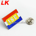 china wholesale custom cheap soft enamel flag lapel pins with butterfly pin