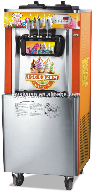 automatic soft ice cream vending machine with factory price in China Guangzhou
