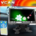 7 inch car monitor with tv TM-701H-404 headrest lcd monitor bracket 16:9 3AV AUX input rear view