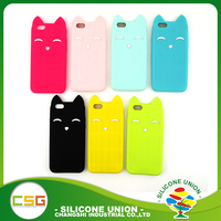 Multicolor smile cat ears custom design silicone cell phone case