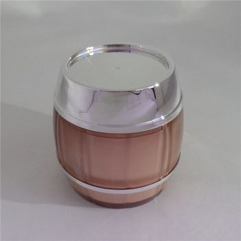 Round shape acrylic face mask cream jar for cosmetic packaging