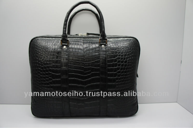 cheap mens tote leather briefcase crocodile leather