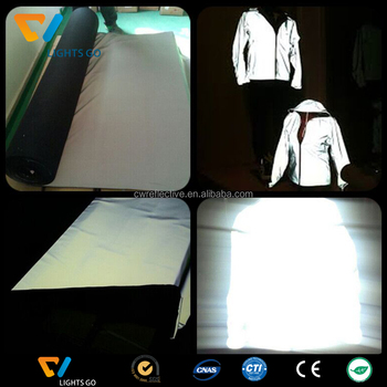 hi vis Fluorescent cloth / glow in the dark light luminous fabric for clothes