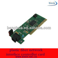 plastic fiber network interface controller card