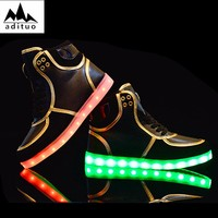 High Quality Custom Made Low Price Led Light Running Shoes