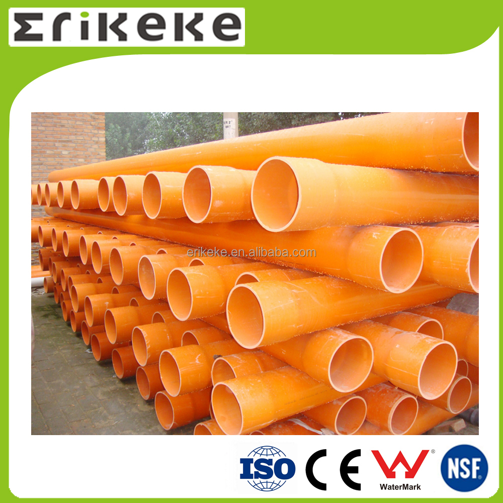 Cable protection orange colored customized pvc pipe