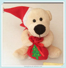 Christmas custom promotion plush toy bear with chef hat and scarf teddy bear