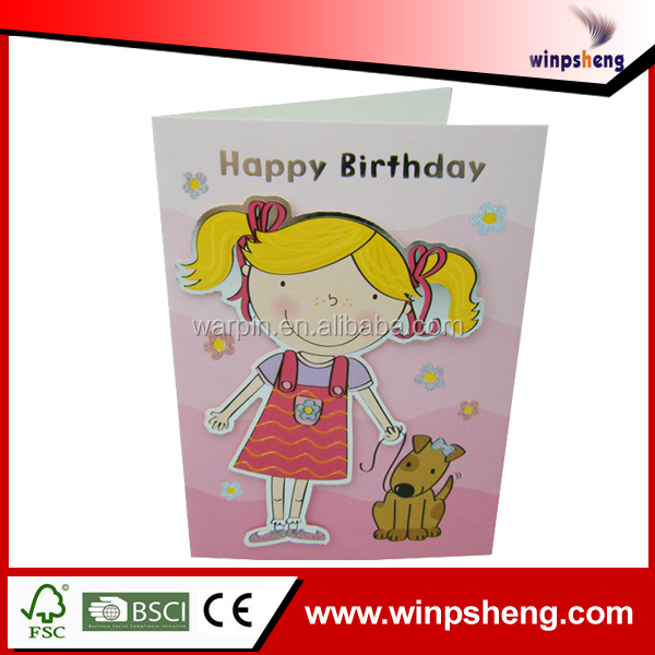 Customized fancy handicraft greeting cards for birthday,wedding
