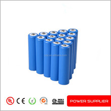 3.7V 2000mAh Rechargable cylinder lithium ion battery 18650