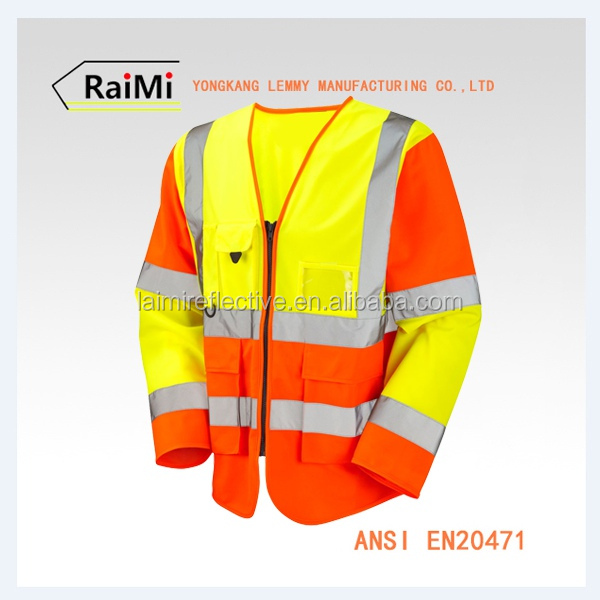 wholesale new products reflective safety clothing workwear reflective vest long sleeve