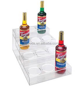 12 Beer Lucite Storage Stand 4 Tiers Clear Dozen Bottle Display Showcase With Silk Screen Logo