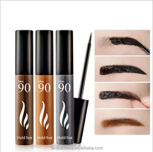 OEM 3colors Eye natural Makeup Mascara Peel Off Tattoo ink Waterproof Long-lasting Eyebrow Dye Gel