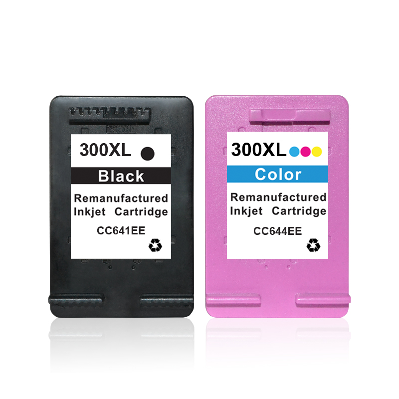 Popular show ink level compatible ink cartridge for hp 300 (cc640e cc643e) for hp 1050