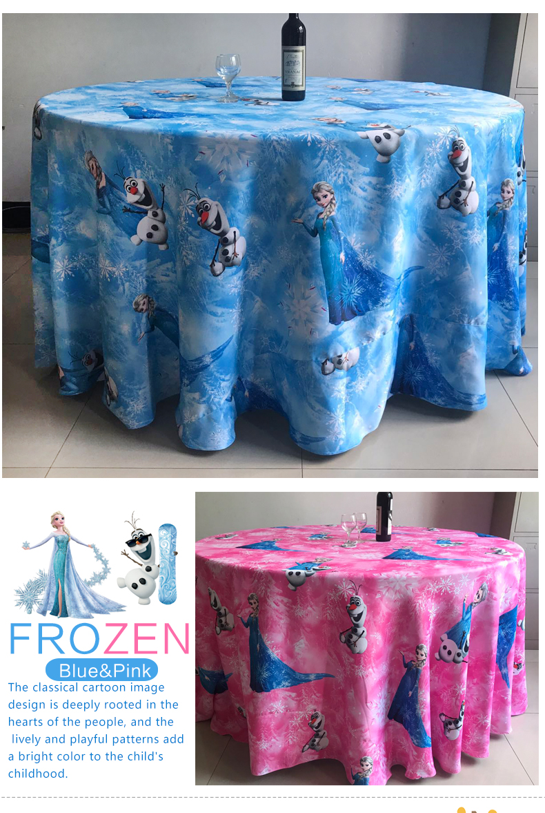 Cute children cartoon pattern Frozen baby birthday party chair covers and table clothes