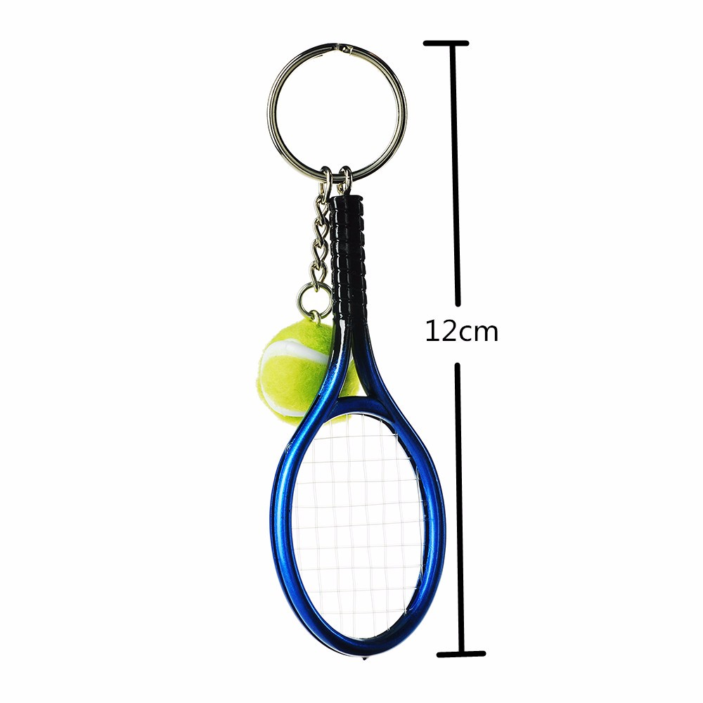 Factory wholesale plastic soft pvc tennis ball keychain,tennis racket keyring for gift