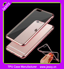 JESOY Slim Shockproof Chrome Bumper Clear Back Phone Case Cover For iPhone 6 6S 7